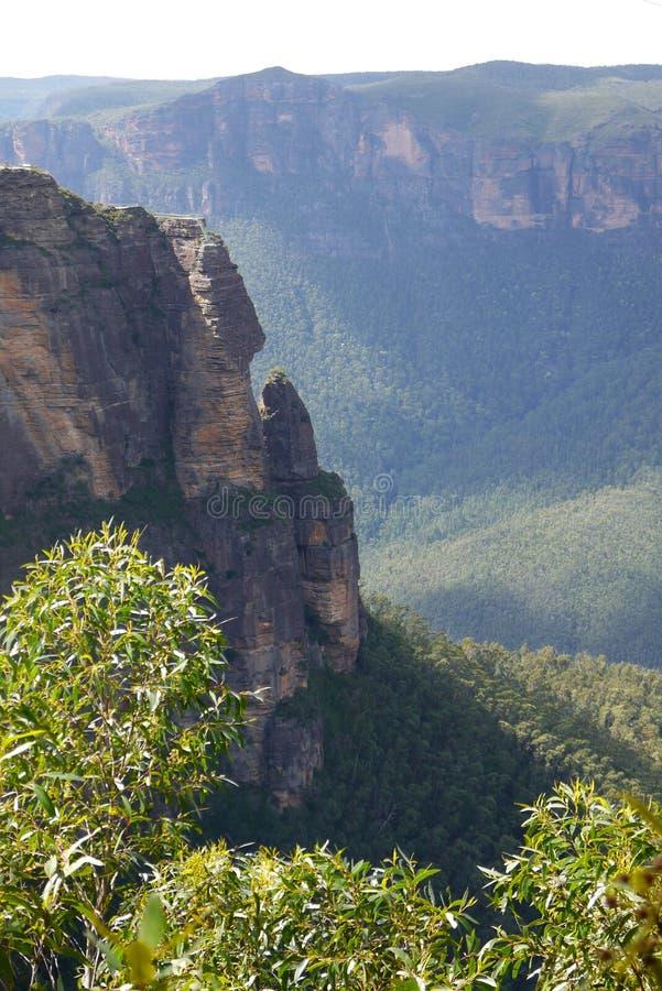 Australia: Blue Mountains Pulpit Rock stock images