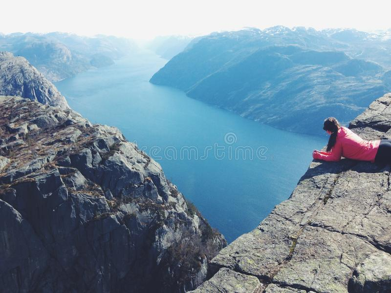 Pulpit rock stock photography