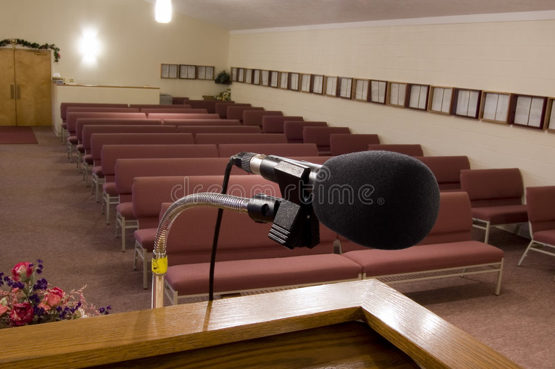Download Pulpit View 1 stock photo. Image of congregation, gospel - 1432654