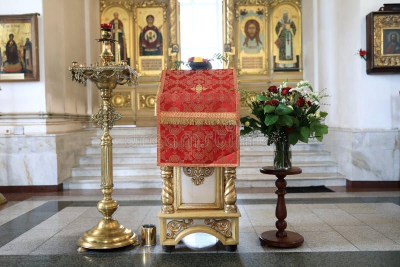 Pulpit w kościół obrazy stock