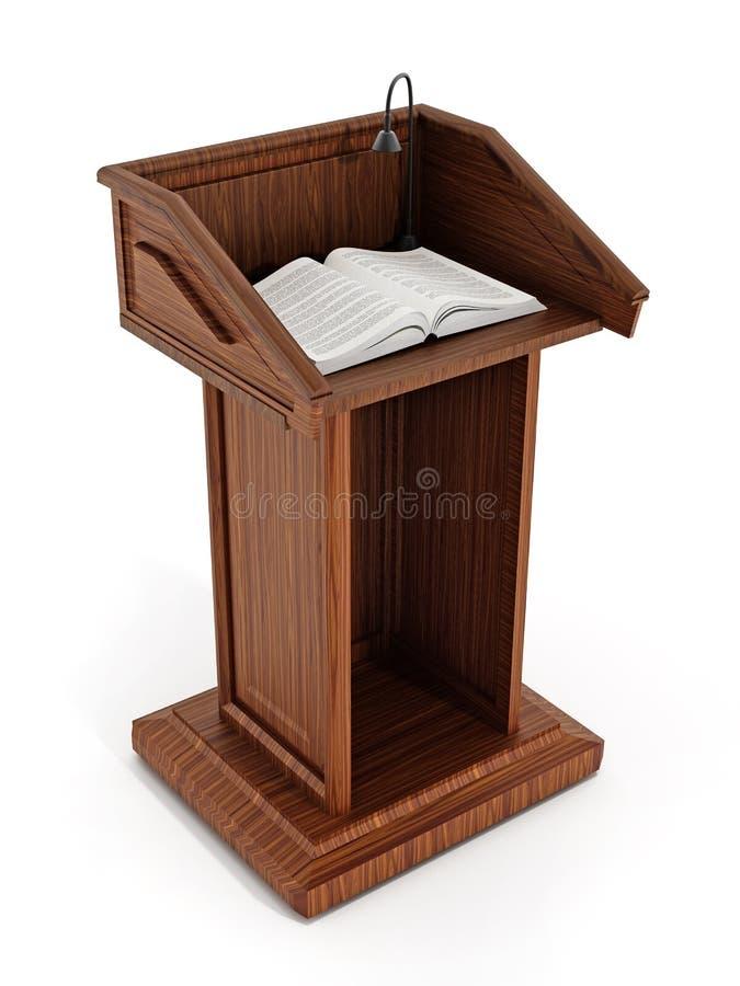 Pulpit z otwartymi stronami zdjęcie stock