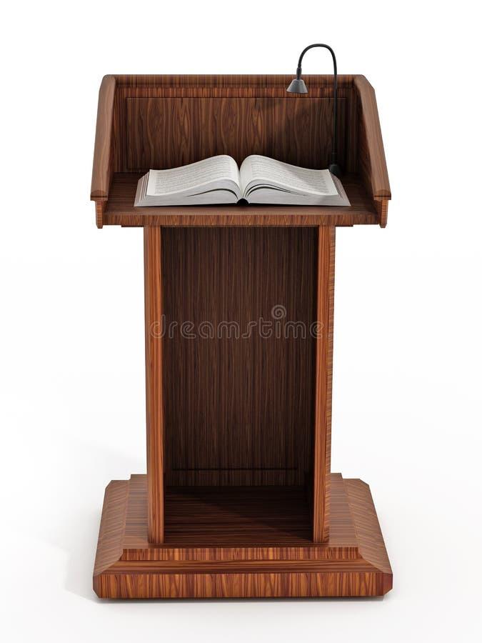 Pulpit z otwartymi stronami fotografia royalty free