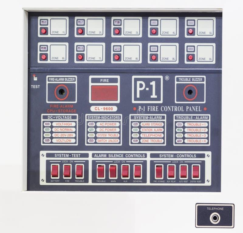 Pulpitu operatora forfire alarmowy system obrazy stock