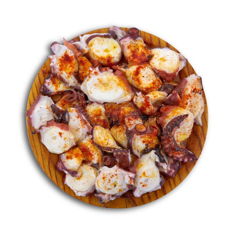 Pulpo een octopus van La gallega stock foto