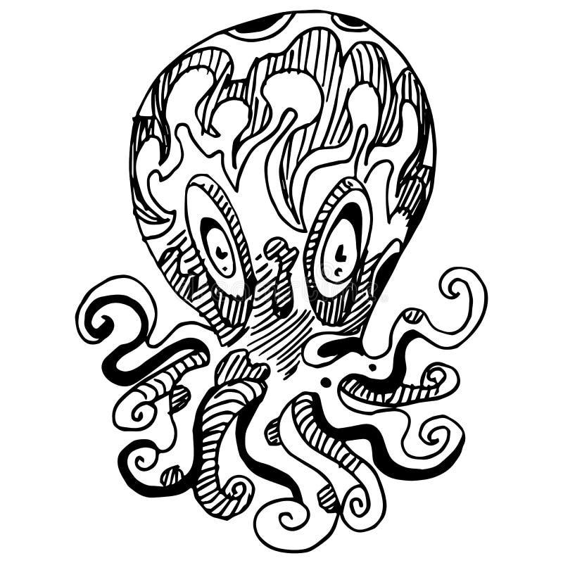 Pulpo extraño libre illustration