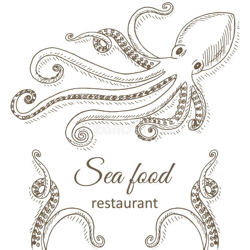 Pulpo y tentáculos libre illustration