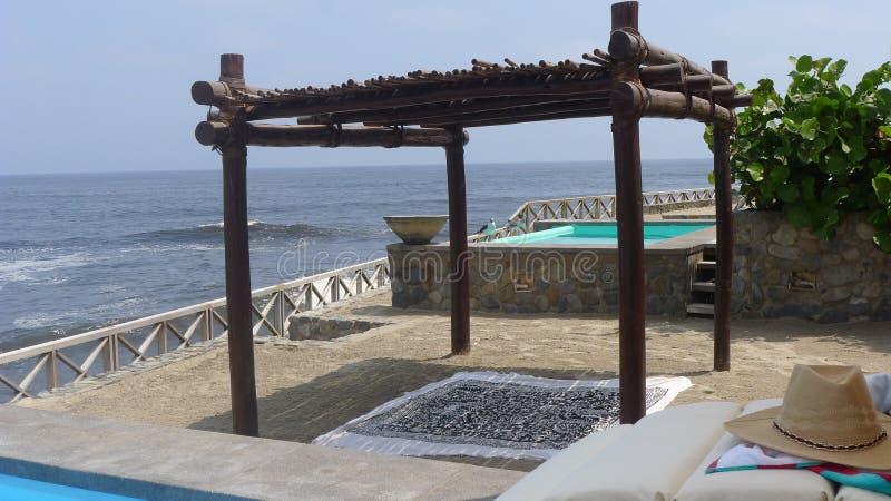 Pulpos beach resort in Lima stock photography