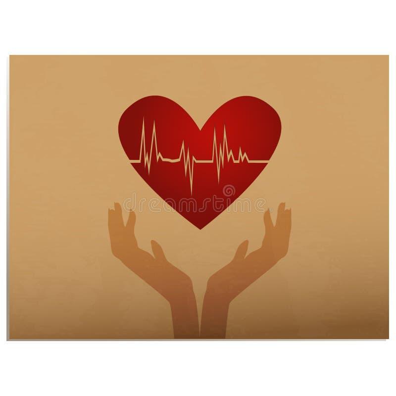 Pulsação do coração ilustração royalty free