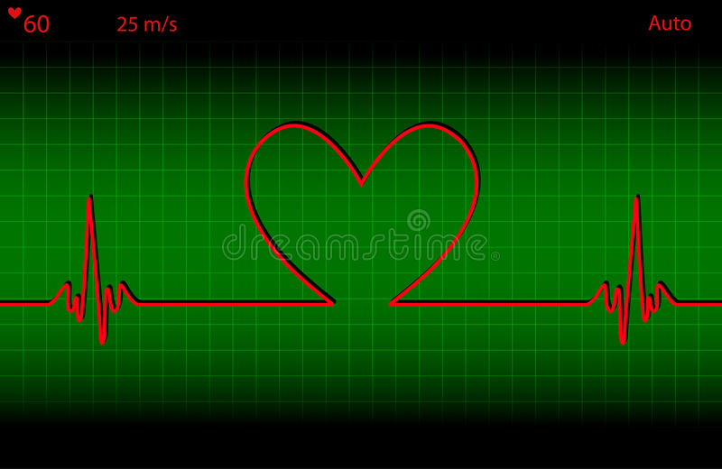 Pulsação do coração médica ilustração royalty free