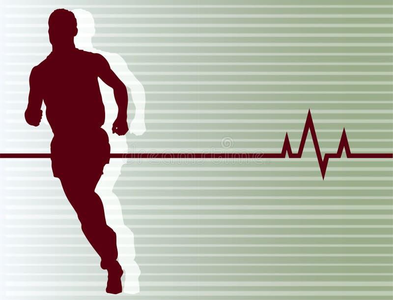 Pulsação do coração Running ilustração stock