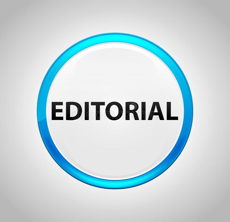 Pulsante blu rotondo editoriale royalty illustrazione gratis