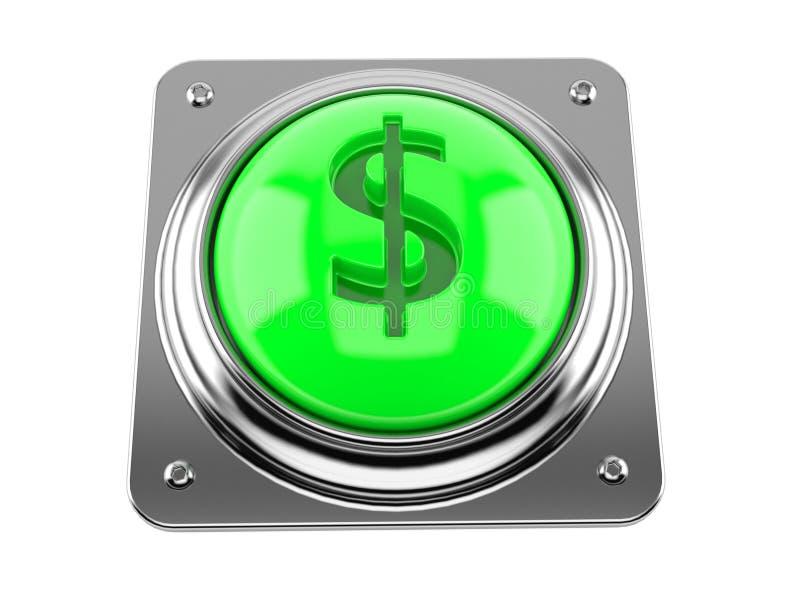 Pulsante con il simbolo del dollaro illustrazione vettoriale