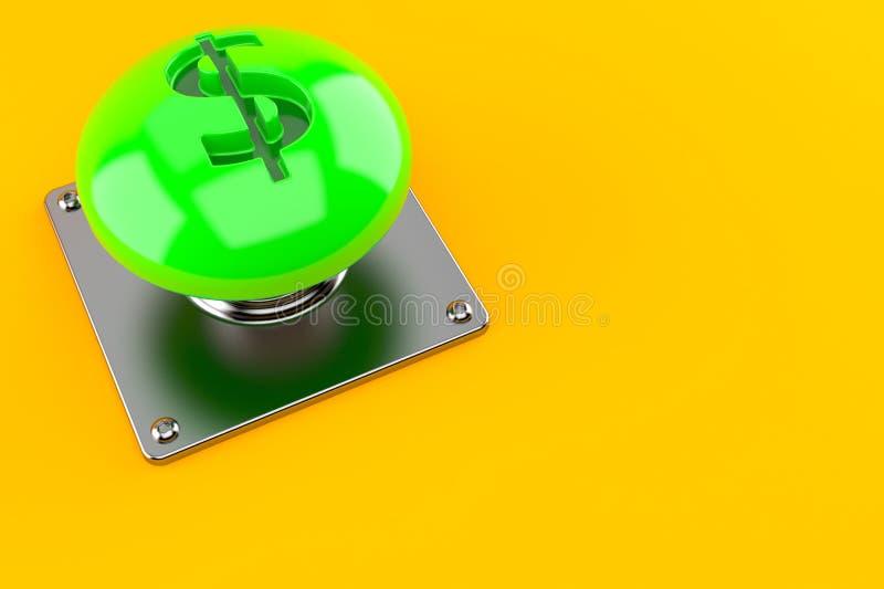Pulsante con il simbolo del dollaro royalty illustrazione gratis