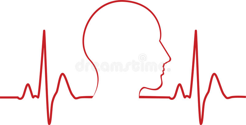 Download Pulse and head stock vector. Image of medical, monitor - 21917457