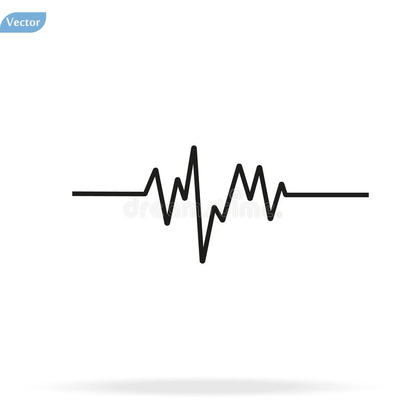 frequency wave chart stock illustration  illustration of
