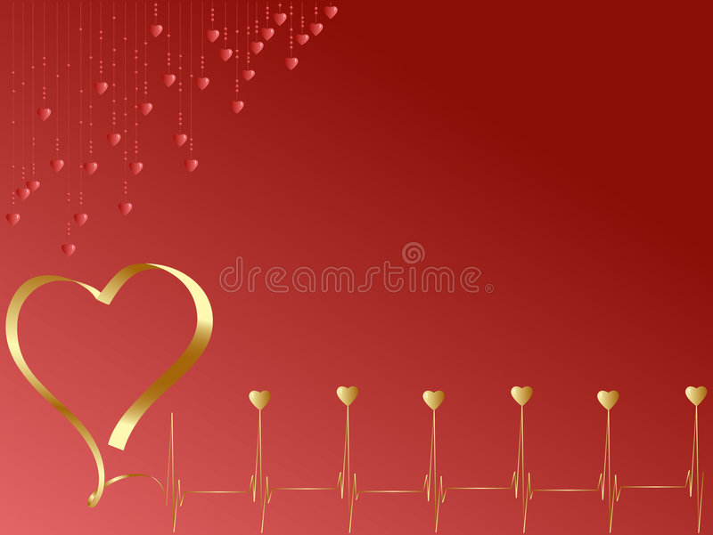 Download Pulse of love with  hearts stock vector. Image of valentine - 7402951