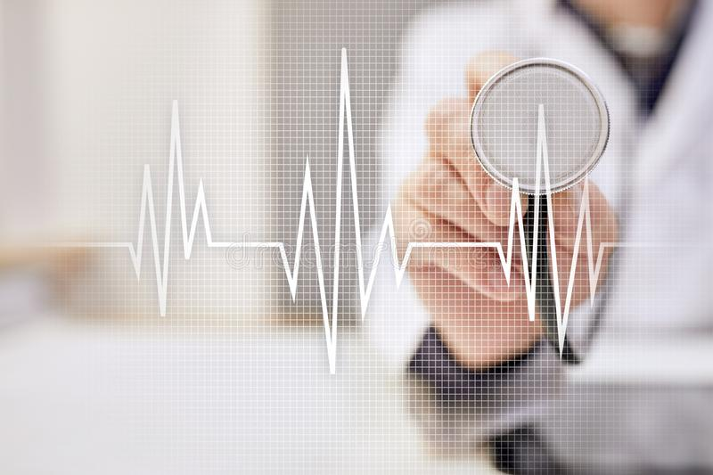 Pulse medical concept background. Medicine and healthcare. royalty free stock image