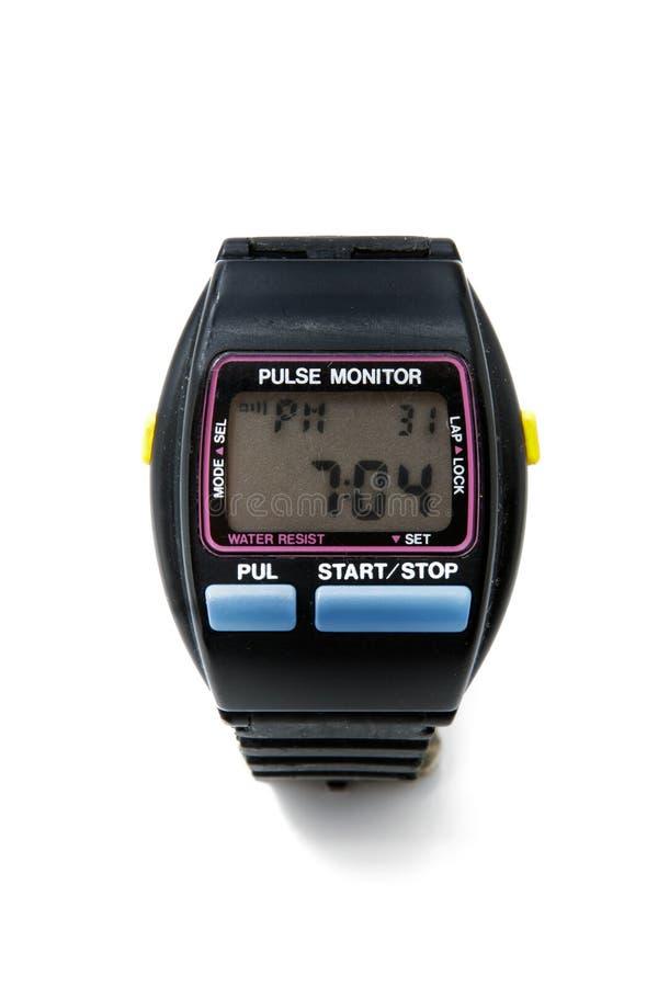 Pulse monitor stock image