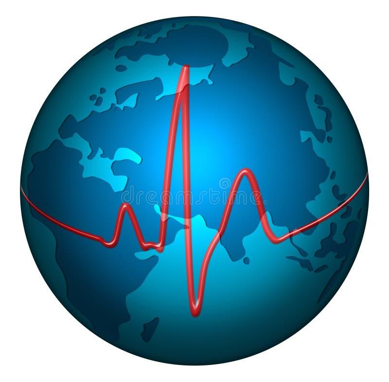 Pulse planet earth vector illustration