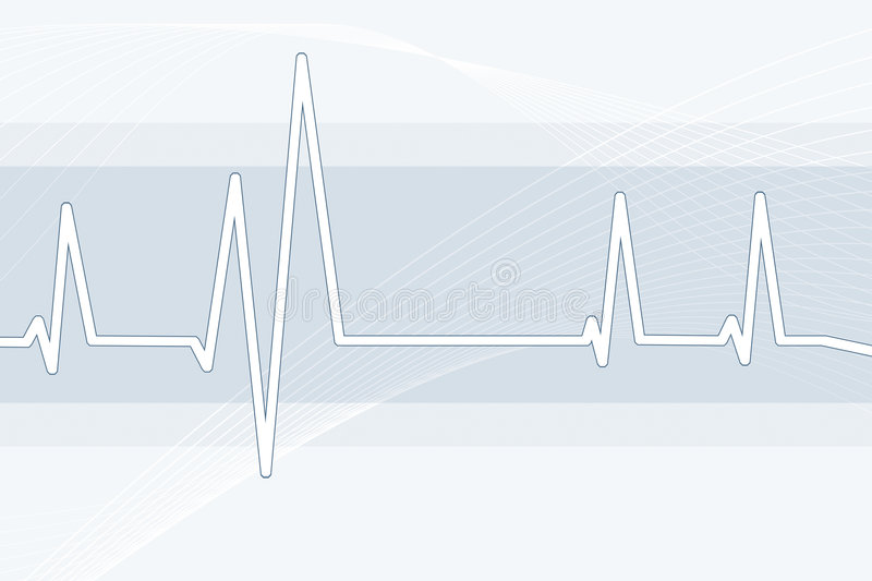 Pulse waveform stock illustration
