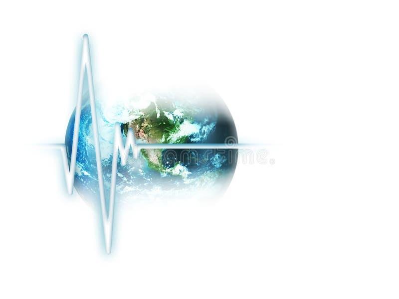 Pulse of the world stock illustration