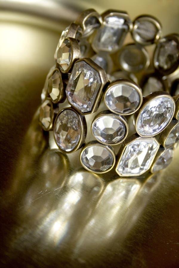 Pulseira do diamante fotografia de stock