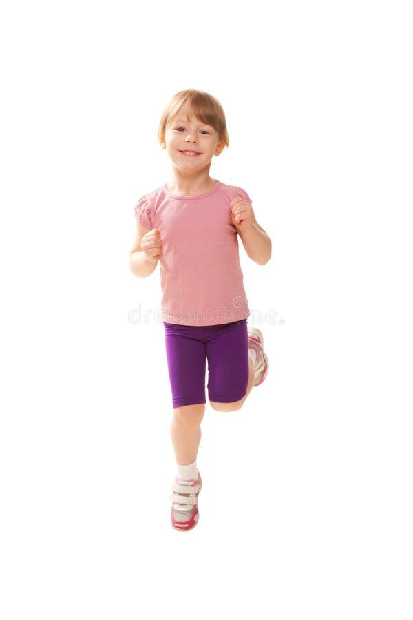 Pulser de petite fille, jouant des sports. Mode de vie sain photos stock