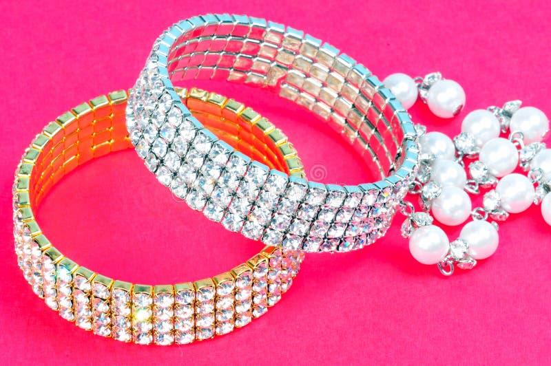 Pulseras del diamante imagen de archivo libre de regalías