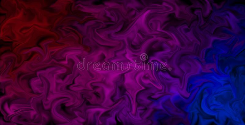 Pulsing Smeared Colors Wallpaper - Abstract artistic background, colors in motion. Abstract background design in moving color style, pulsing colors in red, pink stock illustration
