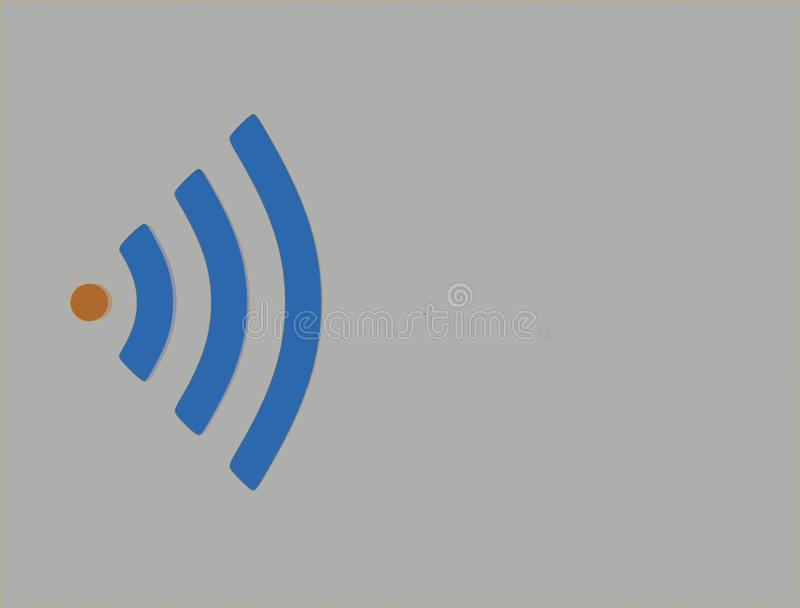 Pulsing wifi logo. 3d illustration vector illustration