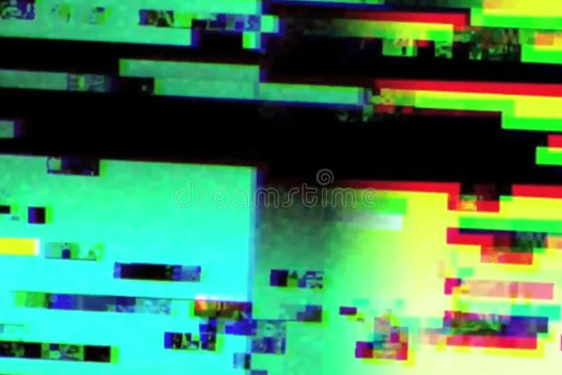 Pulso aleatório realístico abstrato que cintila, sinal análogo da tela da tevê do vintage com interferência má, fundo estático do foto de stock royalty free