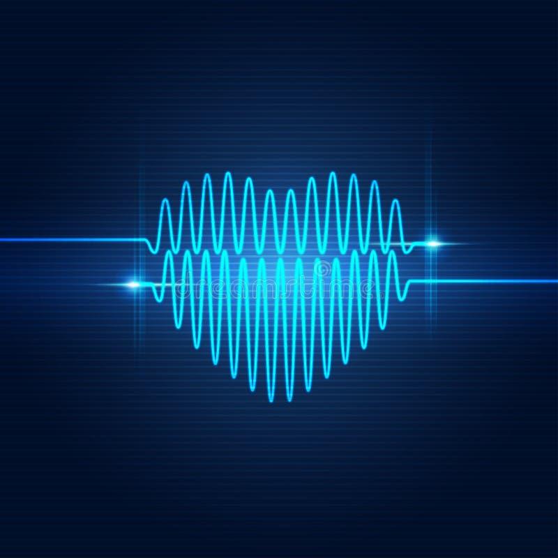 Pulso da forma do coração ilustração do vetor