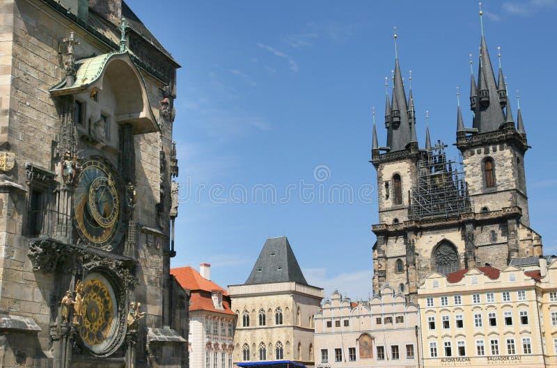 Pulso de disparo astronômico de Praga fotos de stock