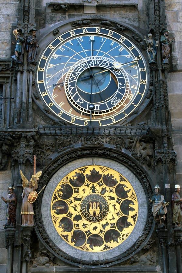Pulso De Disparo Astronômico Na Praça Da Cidade Velha Praha, República Checa Foto de Stock