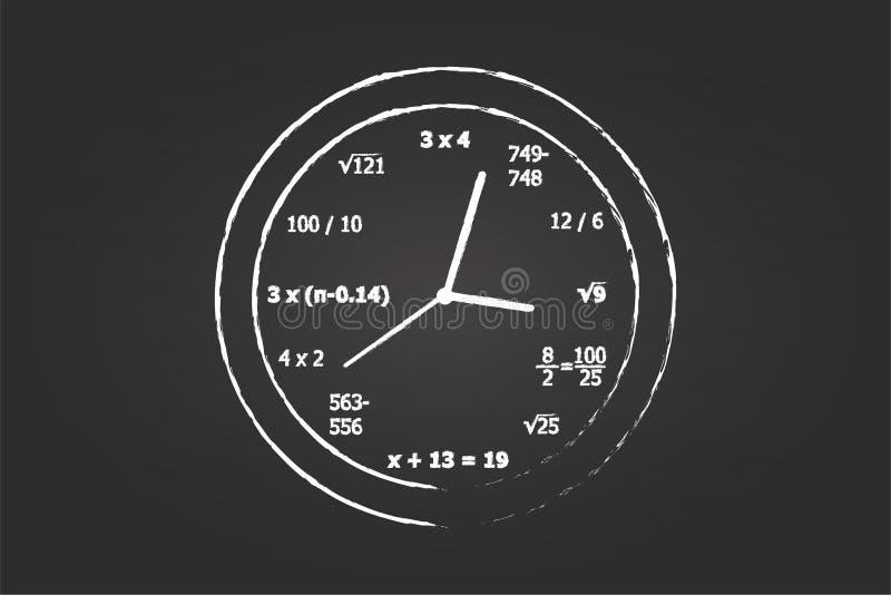 Pulso de disparo da matemática na classe da matemática ilustração royalty free