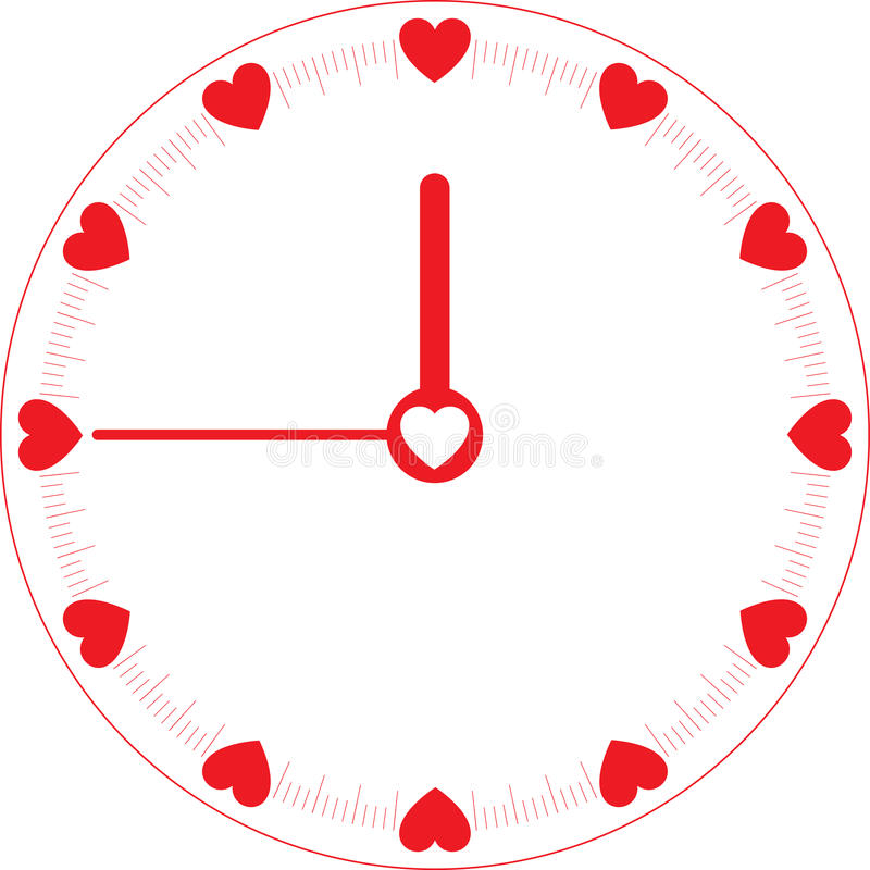 Pulso de disparo de tempo do amor ilustração stock