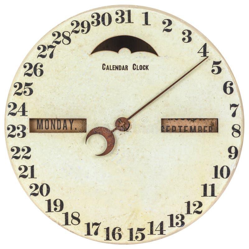 Pulso de disparo do calendário do vintage com dia da indicação do mês fotos de stock