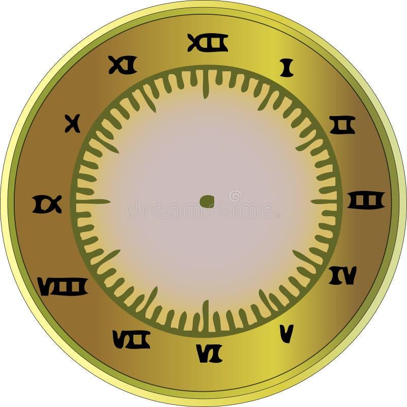 Pulso de disparo do numeral romano ilustração stock