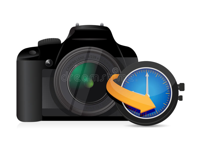 Pulso de disparo do relógio do sincronismo da câmera ilustração do vetor