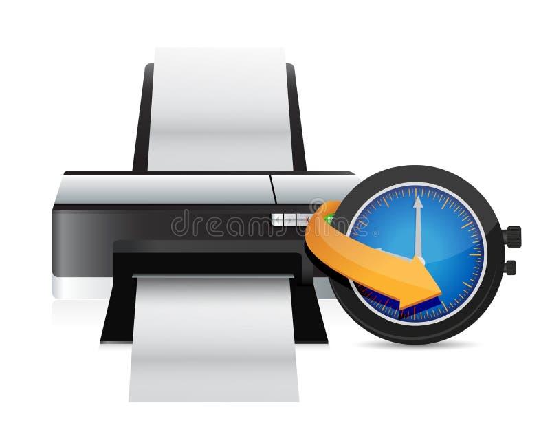 Pulso de disparo do relógio do sincronismo da impressora ilustração stock