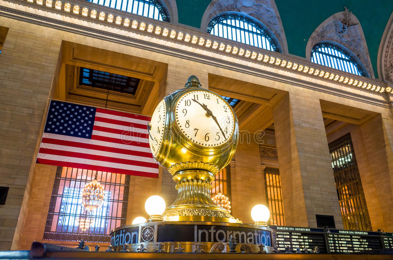 Pulso de disparo do terminal de Grand Central fotografia de stock
