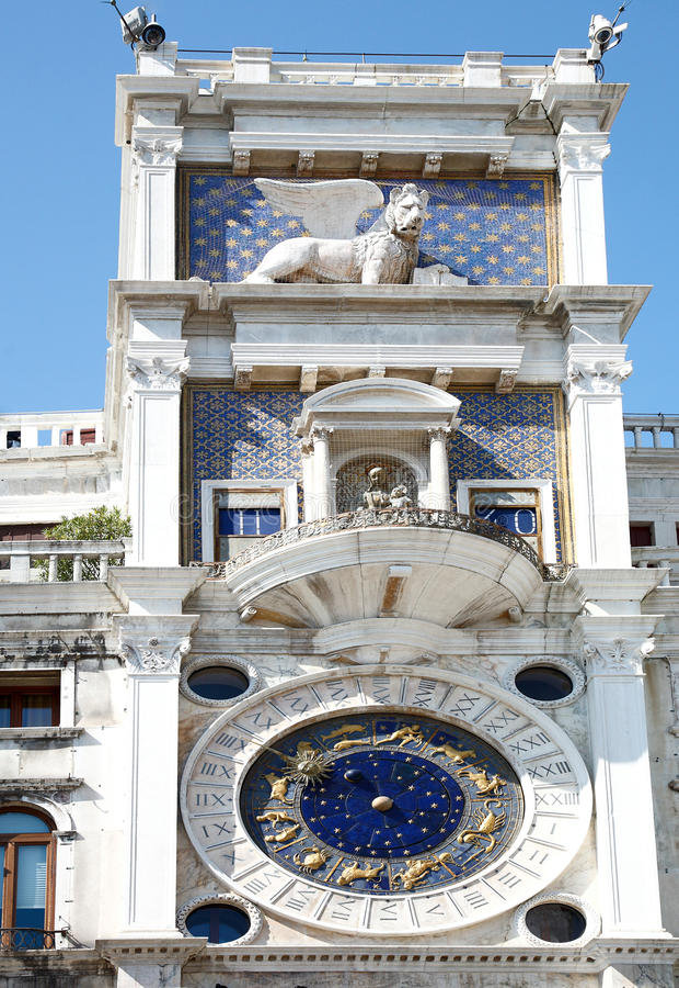 Pulso de disparo do zodíaco, Veneza, Italy imagem de stock