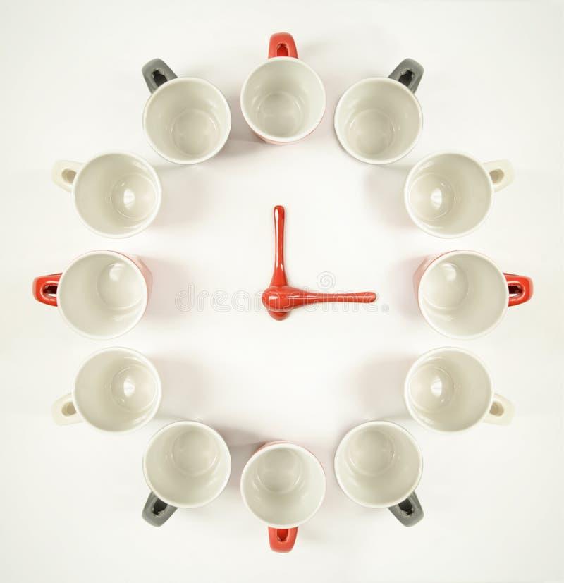 Pulso de disparo dos copos de café - conceito da ruptura de café imagem de stock