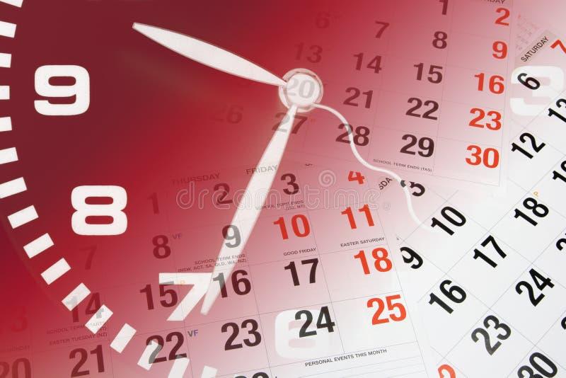 Pulso de disparo e calendário imagens de stock