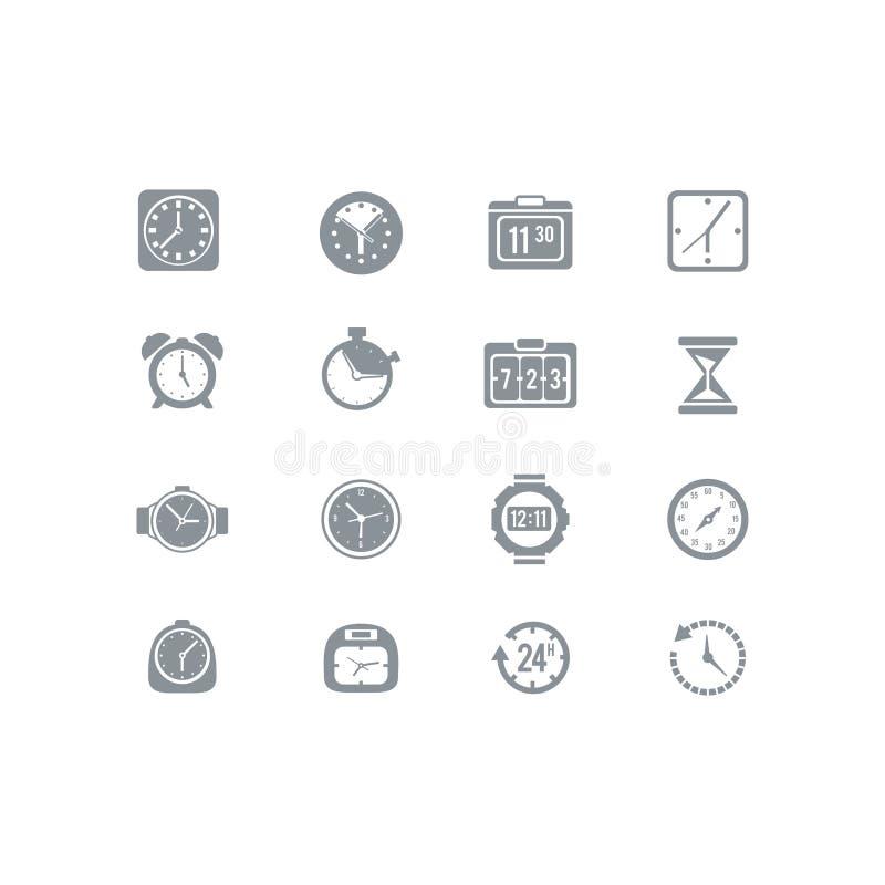 Pulso de disparo e grupo do ícone do tempo