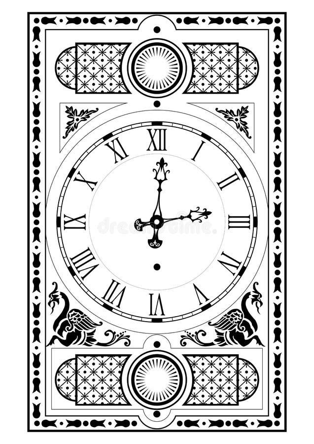 Pulso de disparo elegante do victorian ilustração do vetor