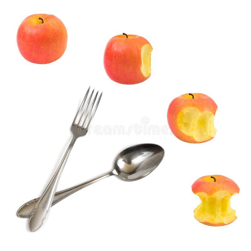 Pulso de disparo feito das maçãs fotografia de stock