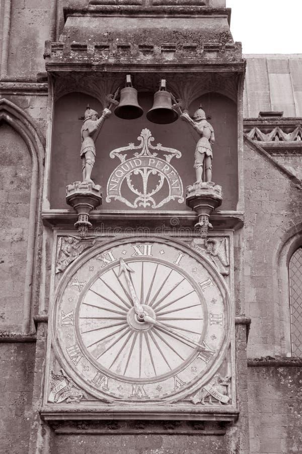 Pulso de disparo na igreja da catedral dos poços; Inglaterra imagens de stock royalty free