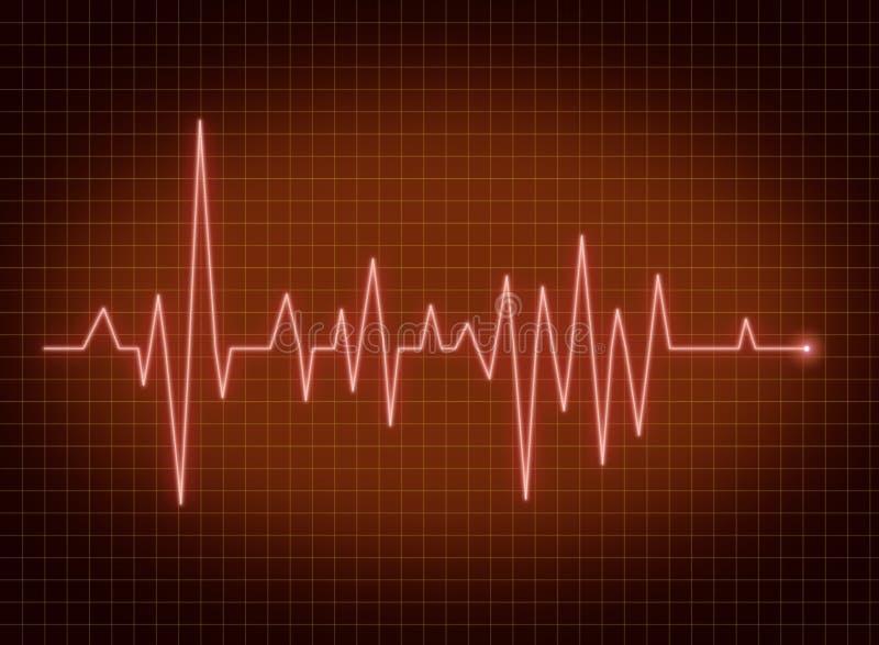 Pulso de ECG ilustração stock