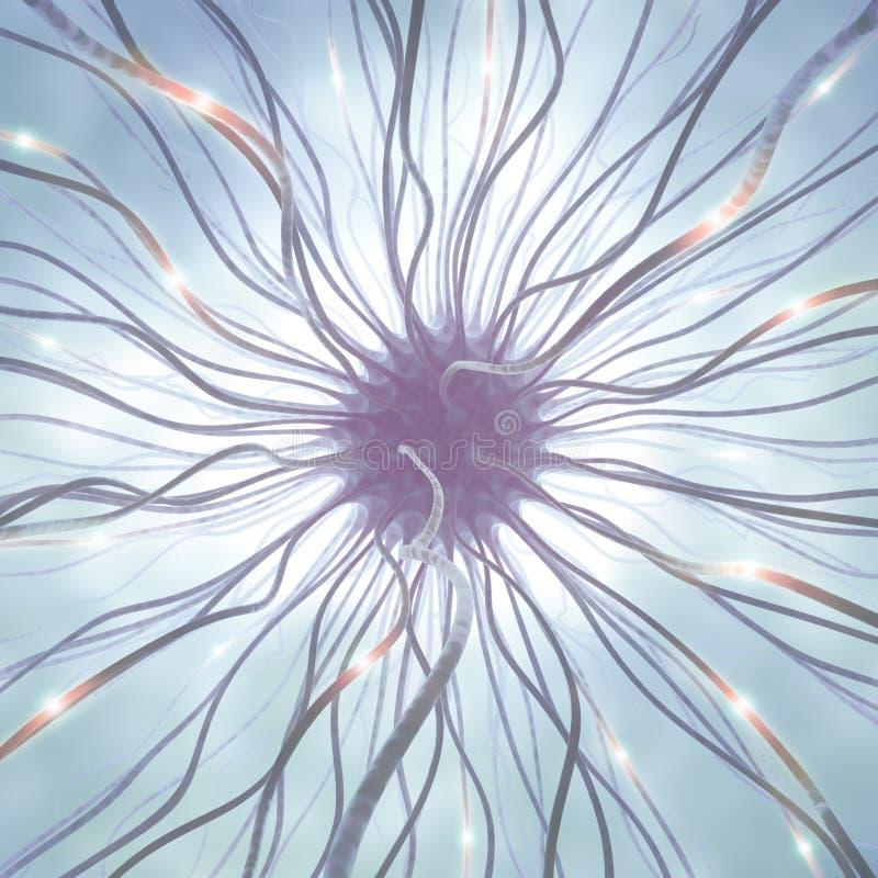 Pulso de la célula nerviosa ilustración del vector